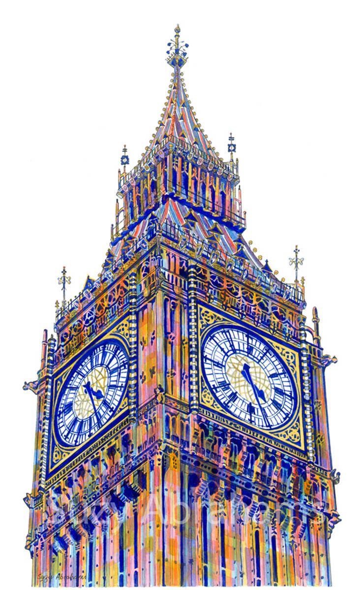 Twenty-Six past Four, London:  Artwork by Suzy Abrahams