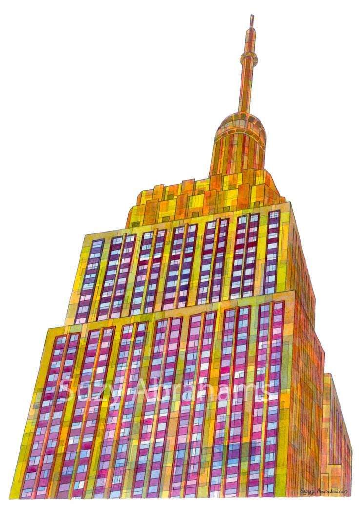 Empire State Building:  Artwork by Suzy Abrahams