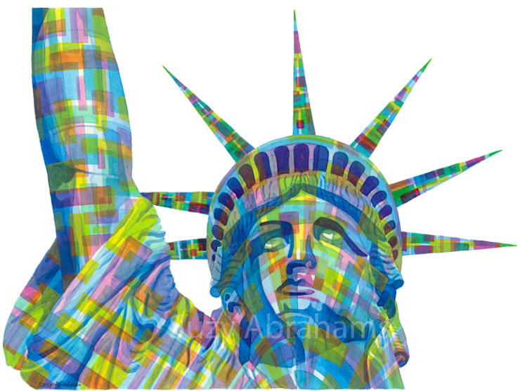 Statue of Liberty No.1:  Artwork by Suzy Abrahams