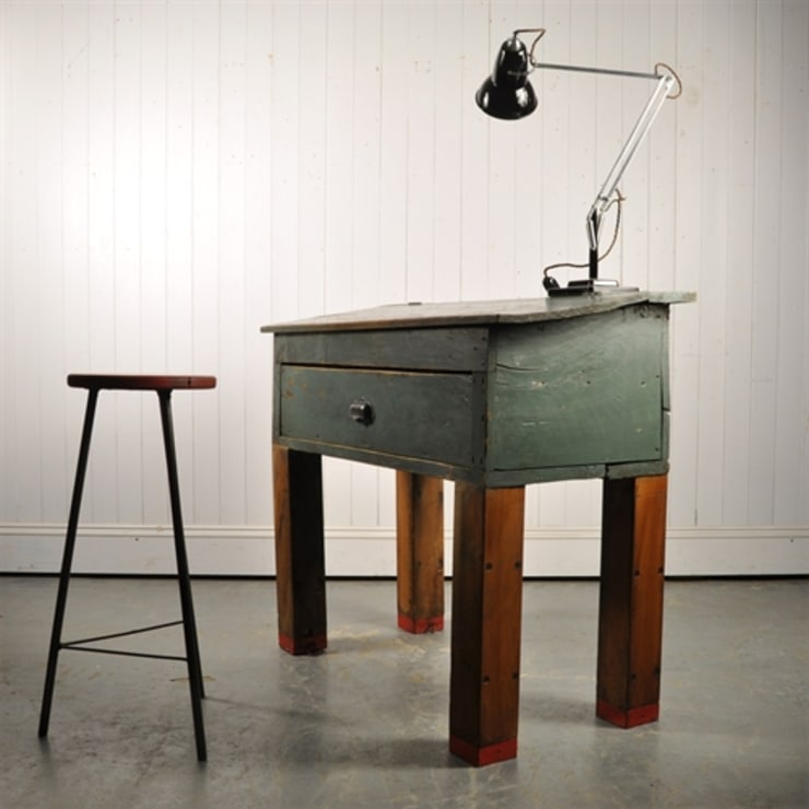 Repurposed Factory Desk: rustic Study/office by Original House