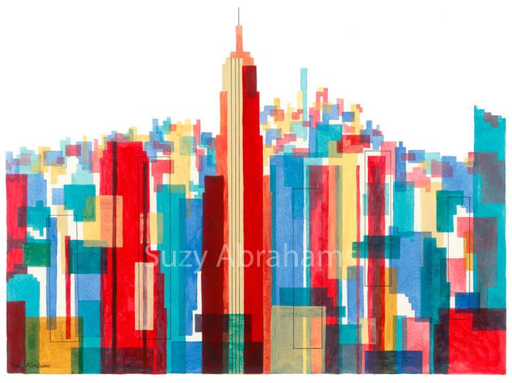 Manhattan Impressions No.1:  Artwork by Suzy Abrahams