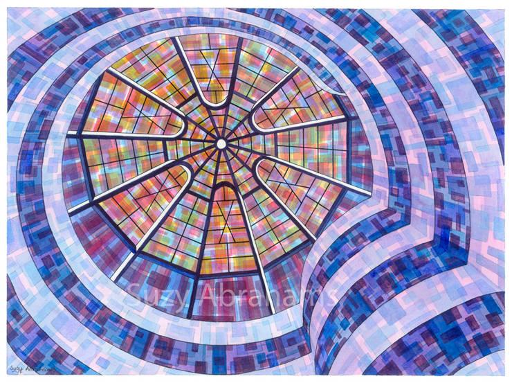 Guggenheim Interior, New York.:  Artwork by Suzy Abrahams