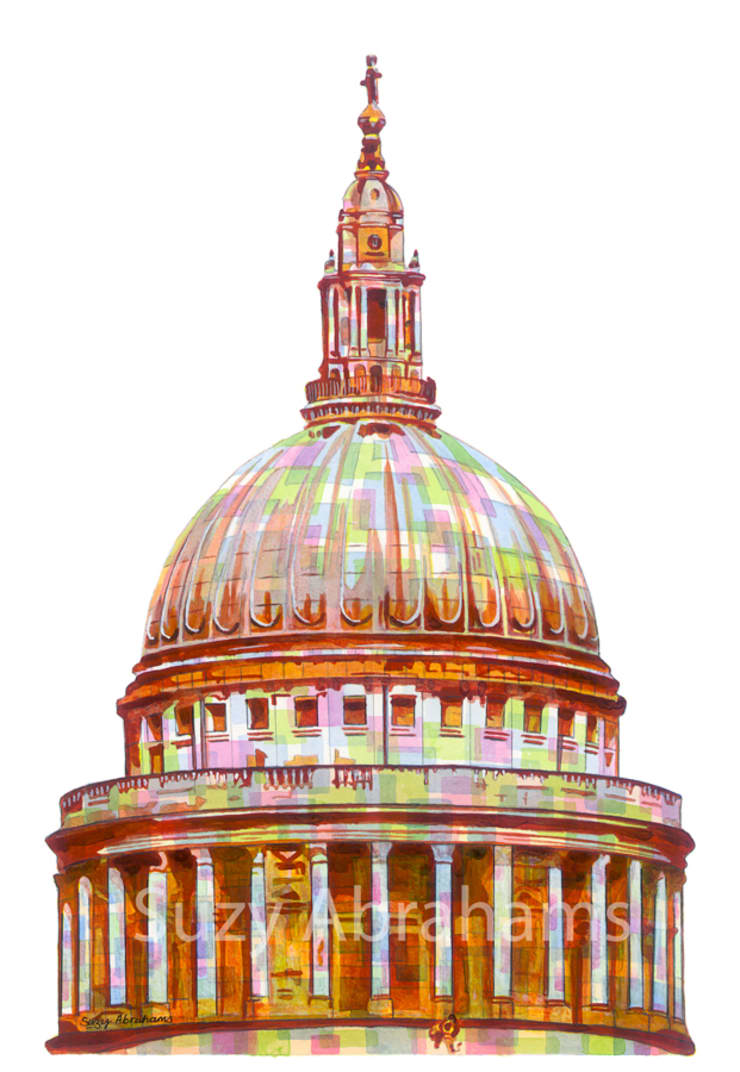 St Paul's Cathedral, London.:  Artwork by Suzy Abrahams