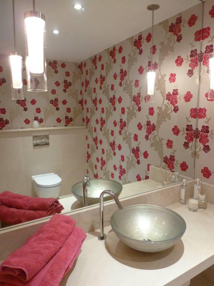 Floral Cloakroom:  Bathroom by Rachel Angel Design