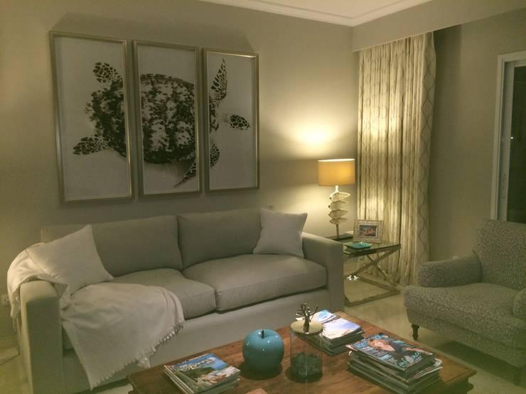 Living Area :  Living room by Rachel Angel Design