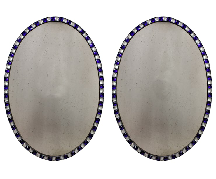 A Pair Of George III Style Studded Irish Mirrors:  Dining room by Antiques, Lighting and The Interior
