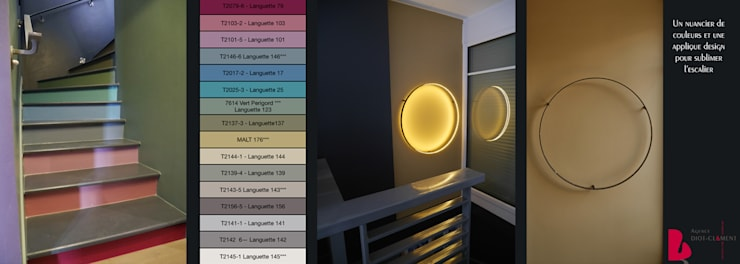 Tolbiac: Couloir et hall d'entrée de style  par Agence Diot-Clément