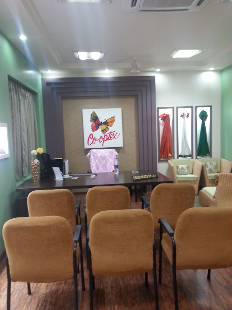Completed Renovation Work for M/s. Co Optex MD Room Chennai:   by Quadrantz Consultants