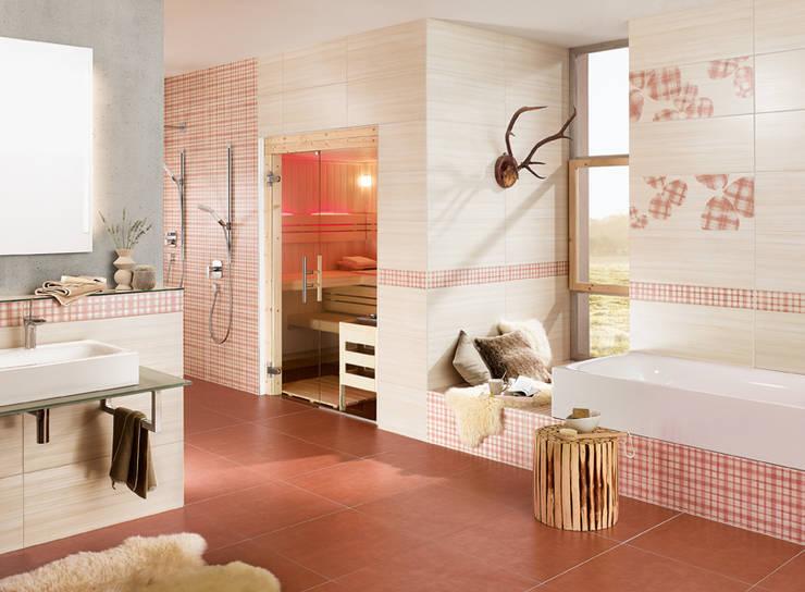Projekty,  Łazienka zaprojektowane przez Steuler-Fliesen GmbH