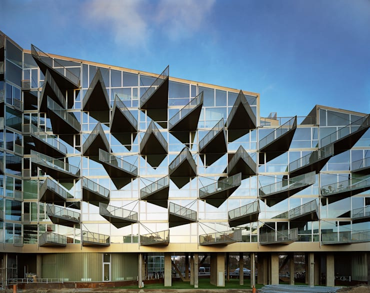 Casas de estilo  de BIG-BJARKE INGELS GROUP