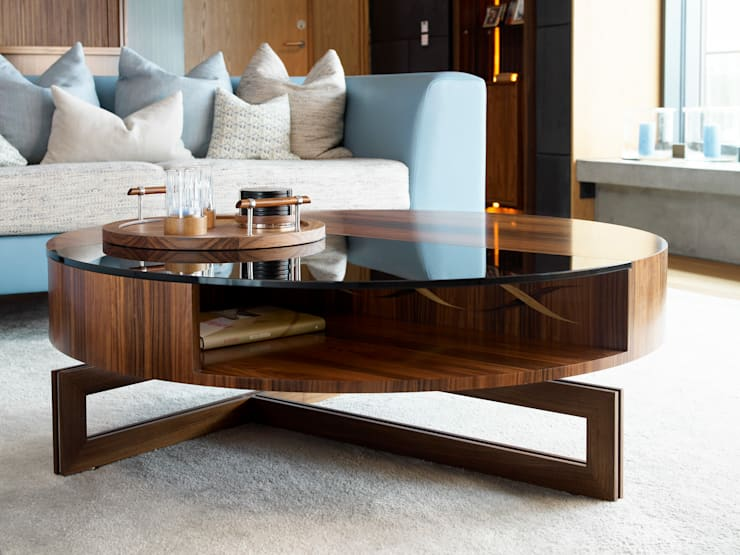 The perfect coffee table - Private Residence, Oslo :  Living room by LINLEY London
