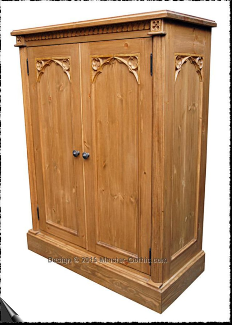 Gothic Style Pine Bedroom Furniture