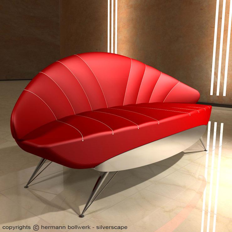 Design Sofa - Ensemble XIV:  Wohnzimmer von Hermann Bollwerk - Silverscape Design Pure