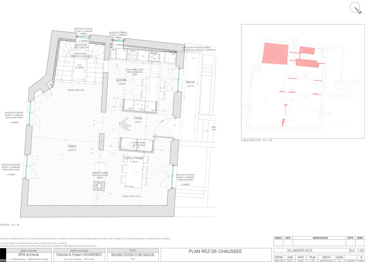 Rénovation d'une maison: Maison de style  par BPXE