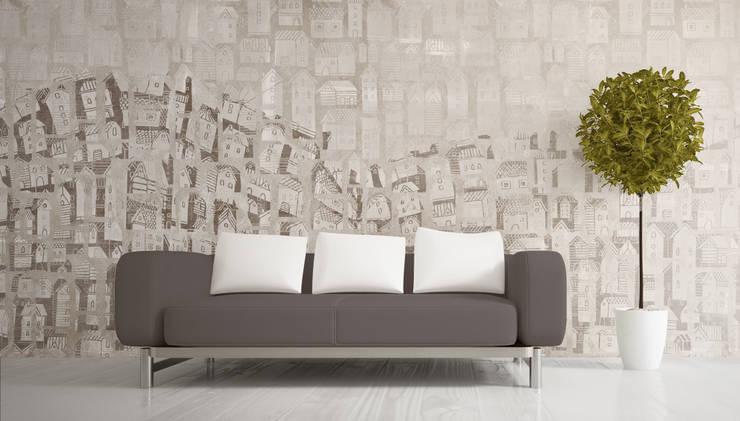 Wall Paper ATELIER -Warm: Pareti & Pavimenti in stile  di Pastorelli
