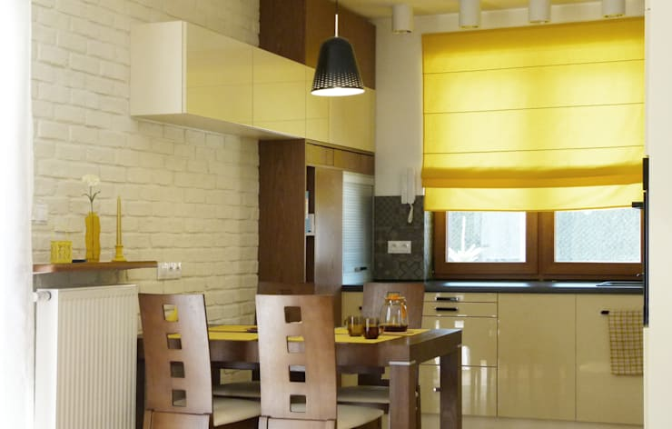 Dom dla dwojga: styl , w kategorii Jadalnia zaprojektowany przez DO DIZAJN  Dorota Szczygłowska