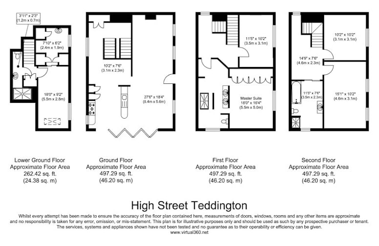 £1.25mm Family 4 storey home—London :  Houses by KDesign - KDevelopments