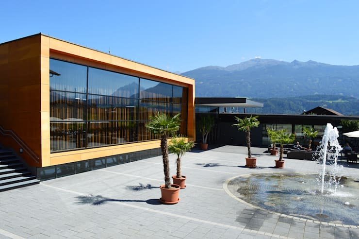 Descender Front at a Concert Hall in Rum, near Innsbruck, Austria:  Event venues by Descender Fronts by Kollegger