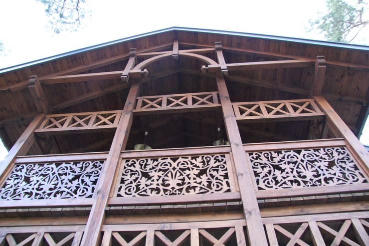 Domy : styl rustykalne, w kategorii Domy zaprojektowany przez Pracownia Architektoniczna Marka Przepiórki
