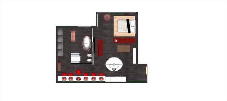 ARREDAMENTO MONOLOCALE SULLE RIVE DEL LAGO DI COMO: Cucina in stile  di STUDIO ARCHITETTURA-Designer1995