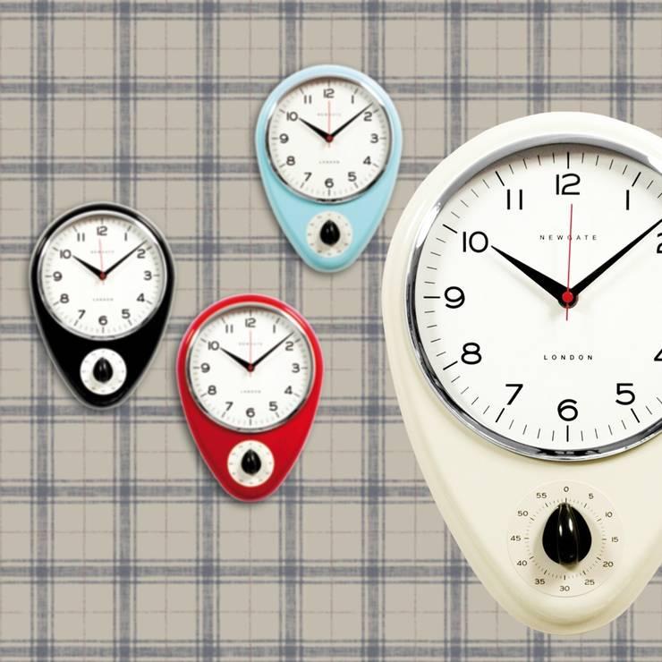 Wanduhr DISCOVERY KITCHEN TIMER cream:  Wände & Boden von Tapeten & Uhren