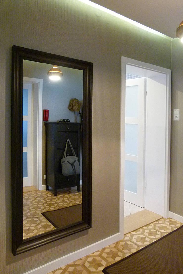 Mieszkanie po generalnym remoncie : styl , w kategorii Korytarz, przedpokój zaprojektowany przez DO DIZAJN  Dorota Szczygłowska,
