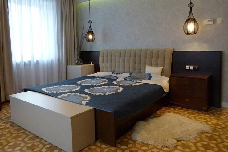 Mieszkanie po generalnym remoncie : styl , w kategorii Sypialnia zaprojektowany przez DO DIZAJN  Dorota Szczygłowska,