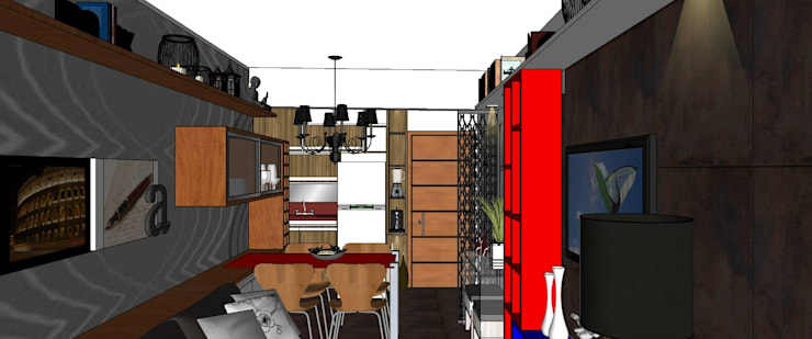 Living/Cozinha:   por Interior Design Christiano Carvalho