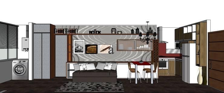 Living/Dormitório:   por Interior Design Christiano Carvalho
