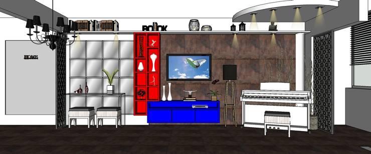 Living Painel tv:   por Interior Design Christiano Carvalho