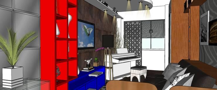 Living:   por Interior Design Christiano Carvalho