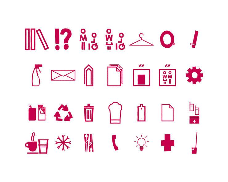 Logotype de signalétique: Bureau de style  par Thibaut Solvit