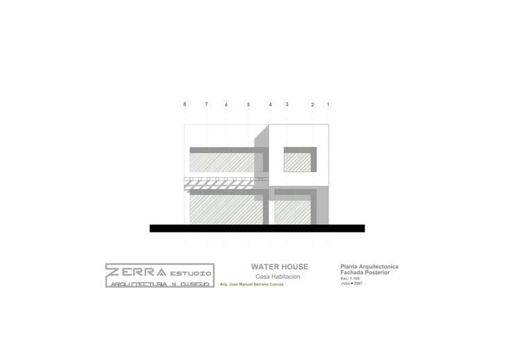 Water House: Hogar de estilo  por zerraestudio
