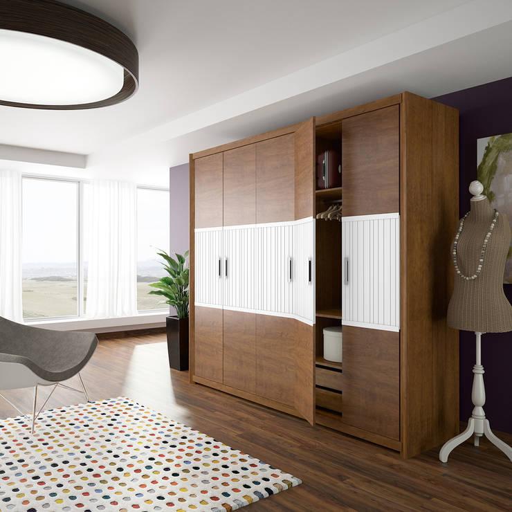 Dormitorio Alba: Dormitorios de estilo  de JIMÉNEZ VISO