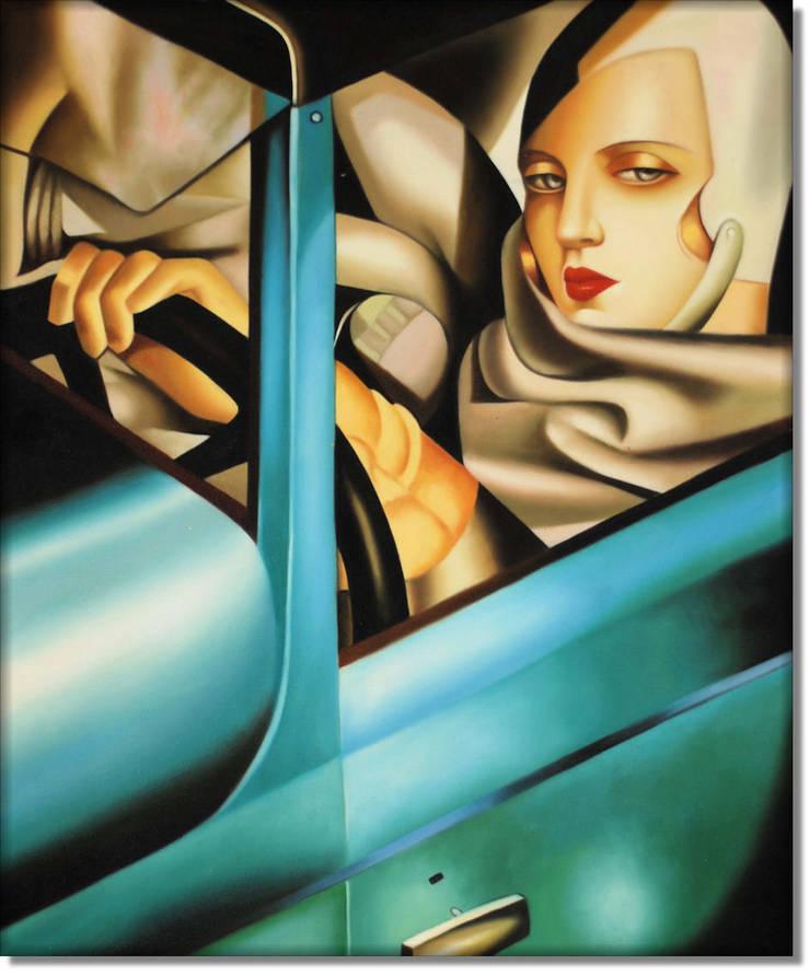 Tamara w zielonym Bugatti: styl , w kategorii Sztuka zaprojektowany przez MSP Sp. z o.o.,