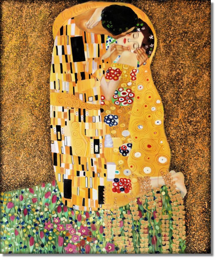 Pocałunek: styl , w kategorii Sztuka zaprojektowany przez MSP Sp. z o.o.,