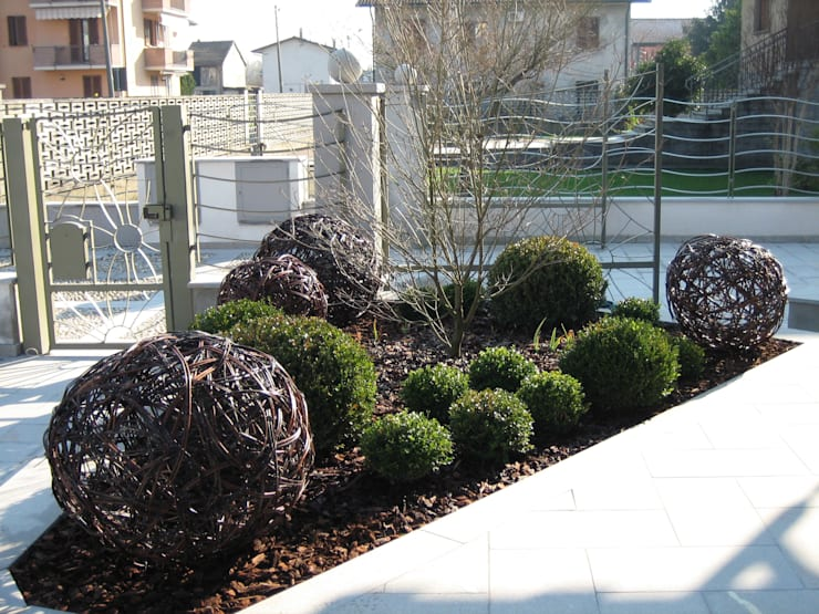 Onde: Giardino in stile  di Architettura del verde, Moderno