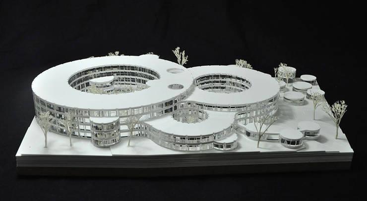 BUREAUX POUR LE SIÈGE D'ADIDAS — ALLEMAGNE:  de style  par PARC Architectes
