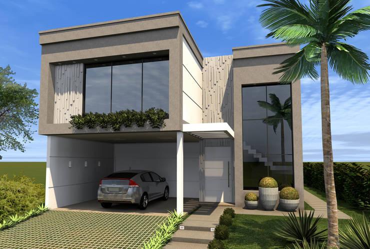 Fachada Frontal: Casas  por Konverto Interiores + Arquitetura