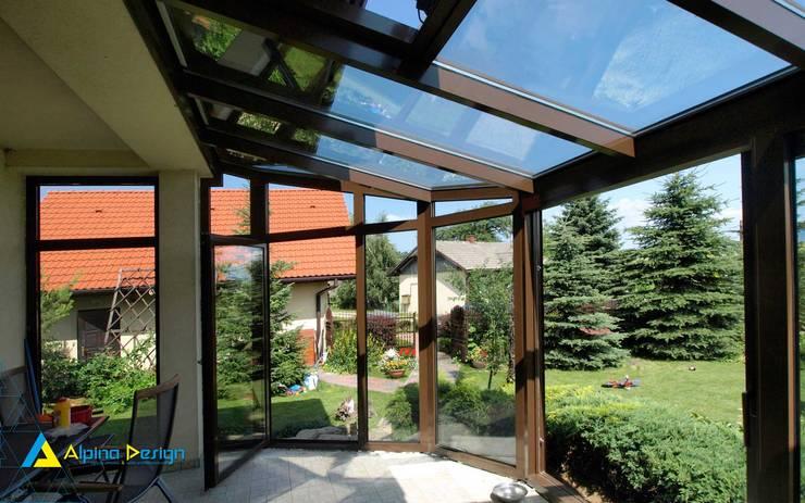 Ogród Zimowy : styl , w kategorii Ogród zimowy zaprojektowany przez Alpina Design,Nowoczesny