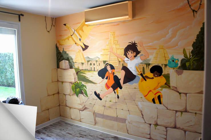 Trompe l'oeil: Chambre d'enfant de style  par Dave Baranes