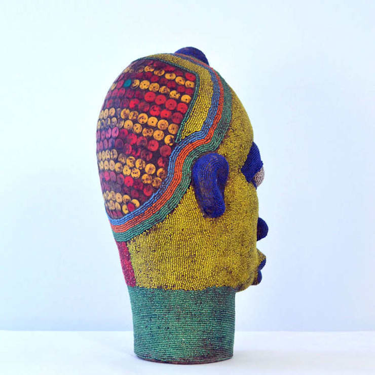 Large Female Beaded Sculpture:   by The Moderns