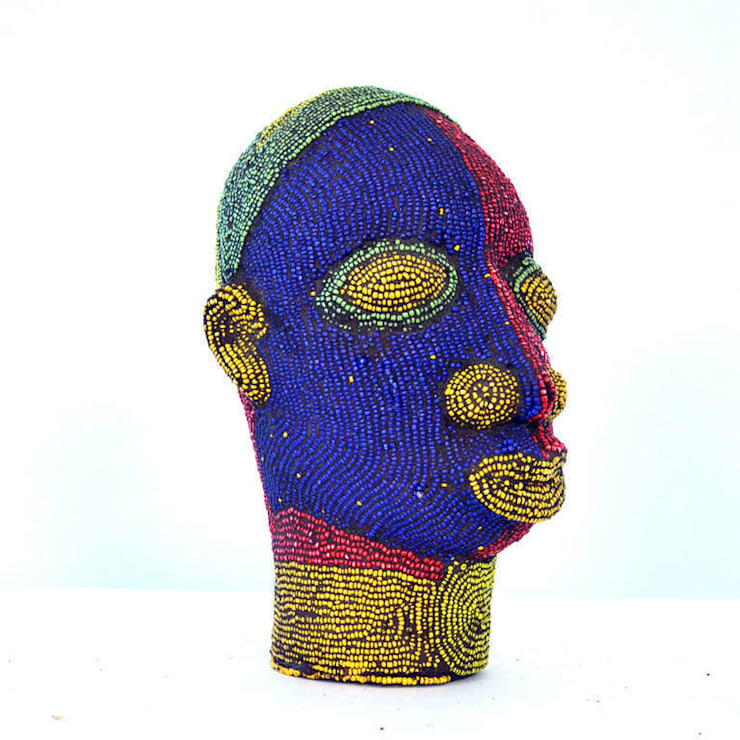 Nigerian Male Beaded Head:   by The Moderns