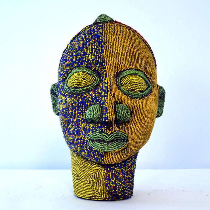 Nigerian Female Beaded Head:   by The Moderns