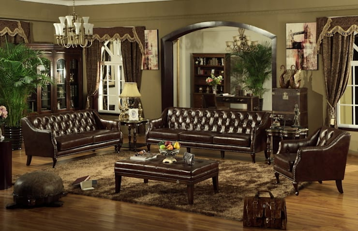 Chesterfield Sofa Set from Locus Habitat:  Living room by Locus Habitat