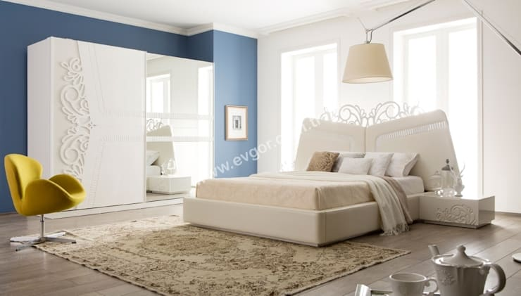 Ev Gör Mobilya Sanayi Tekstil ve Ticaret LTD. ŞTİ. – Alonzo Avangarde Yatak Odası: klasik tarz tarz Yatak Odası