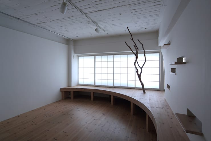 山王マンション407 リノベーション: nano Architectsが手掛けたリビングです。