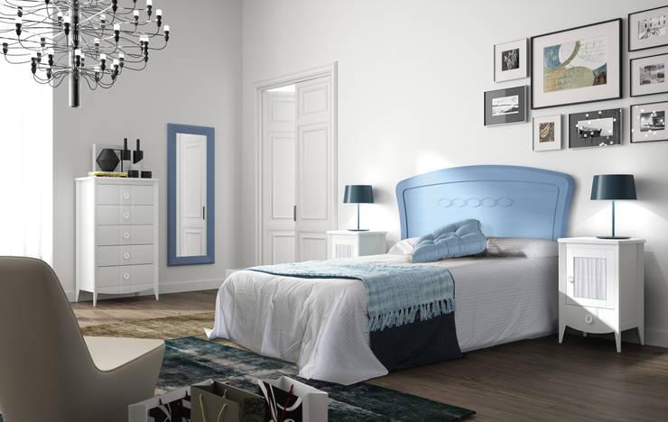 Zona Noche: Dormitorios de estilo mediterráneo de ELIZANA