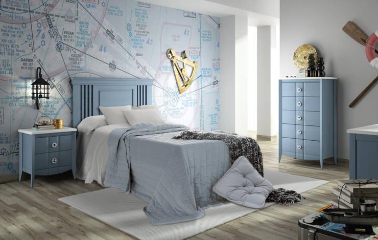 Zona Noche: Dormitorios de estilo  de ELIZANA