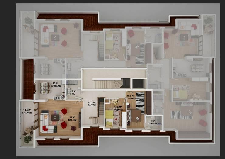 CANSEL BOZKURT  interior architect – AKGÜN YAPI -YEŞİLKÖY PROJESİ:  tarz